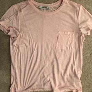 A&F body fit light pink shirt